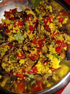 insalata di miglio e verdure