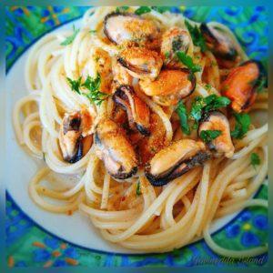 Spaghetti cozze e bottarga