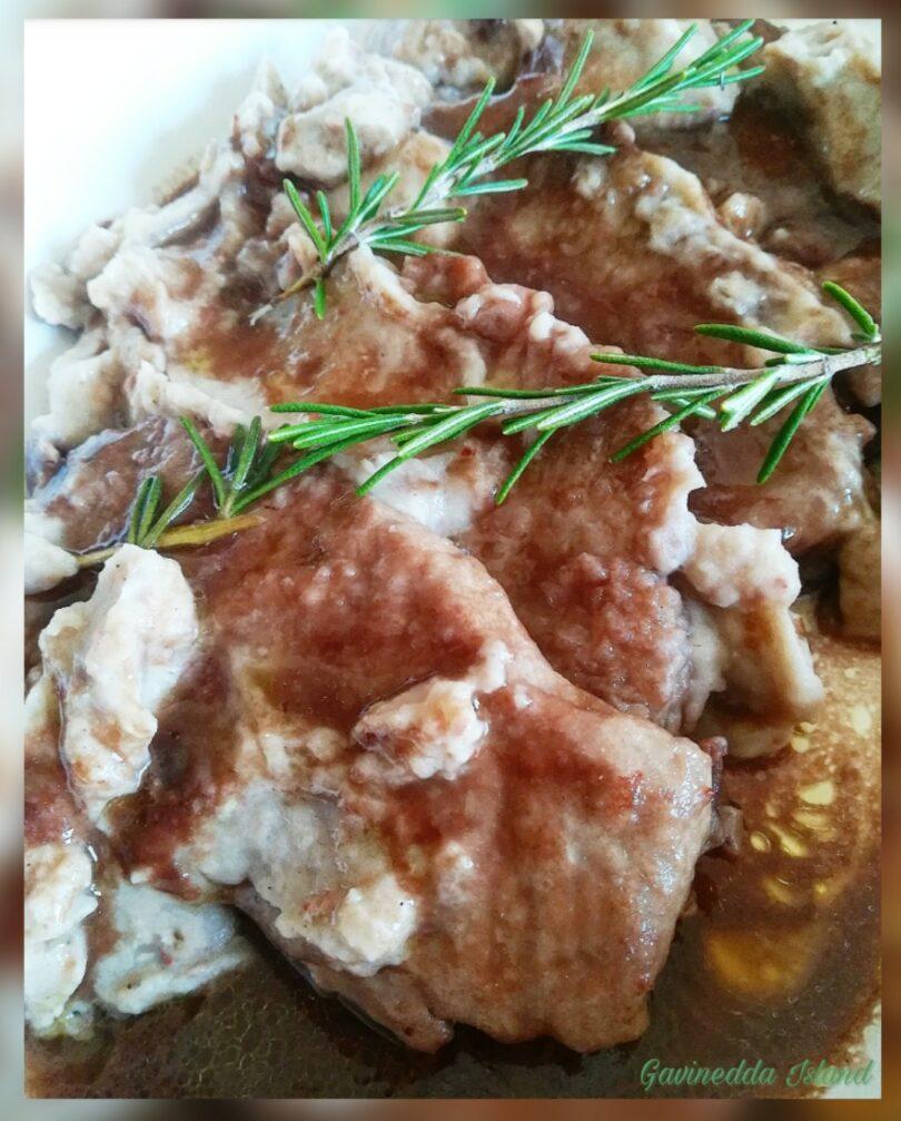 Lonza di maiale con purè di castagne